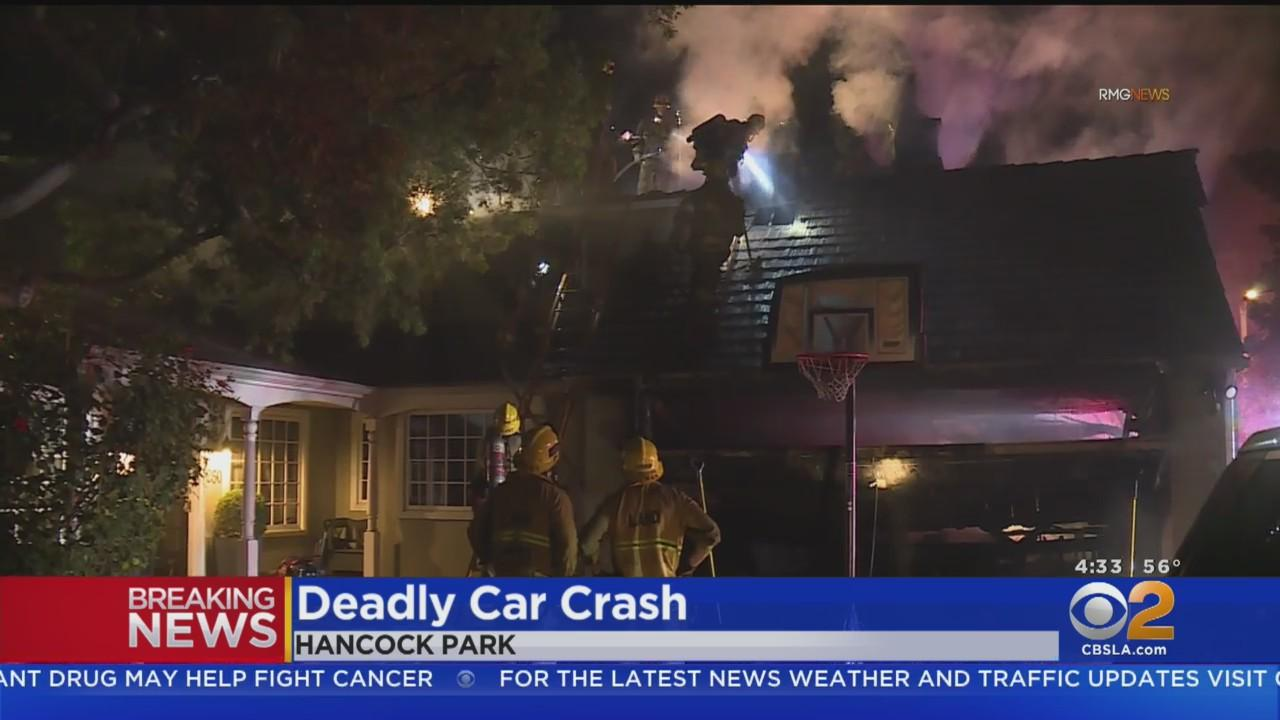 Driver Killed After Careens Into Garage In Hancock Park In Possible Street Racing Crash