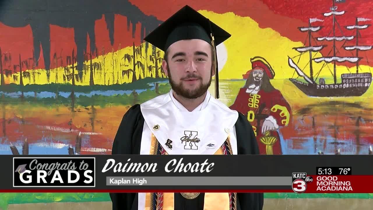 Congrats to Grads: Daimon Choate