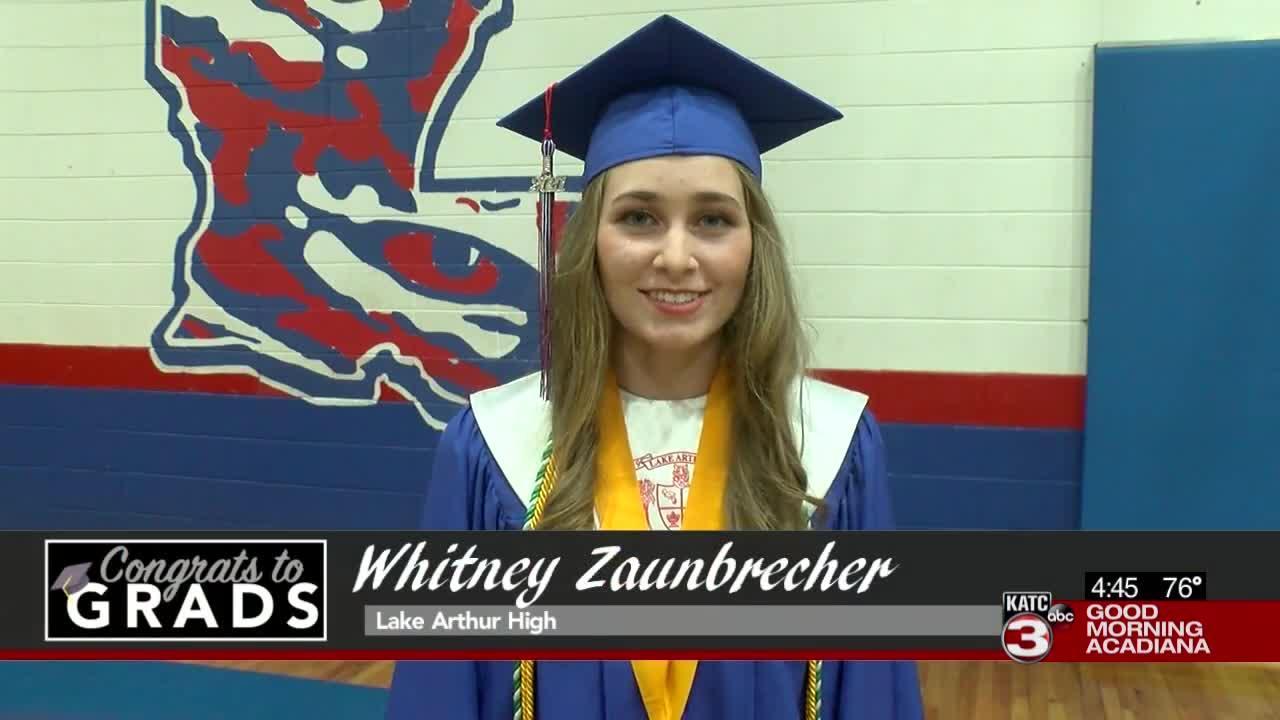 Congrats to Grads: Whitney Zaunbrecher