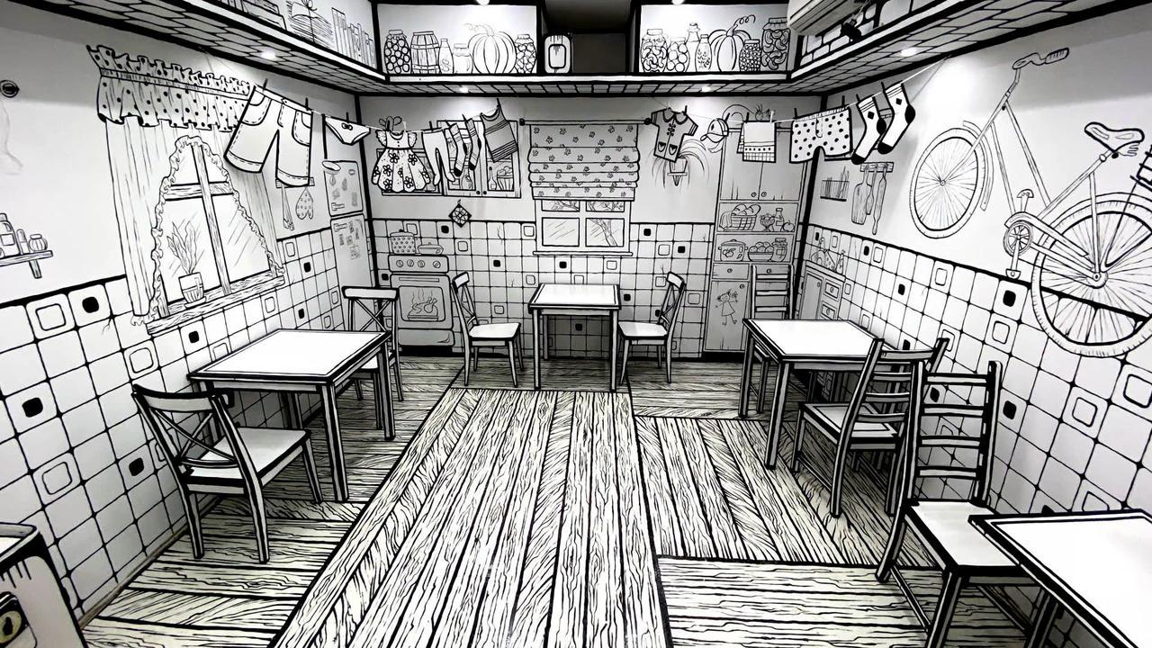 Te sentirás como un dibujo animado en esta cafetería rusa