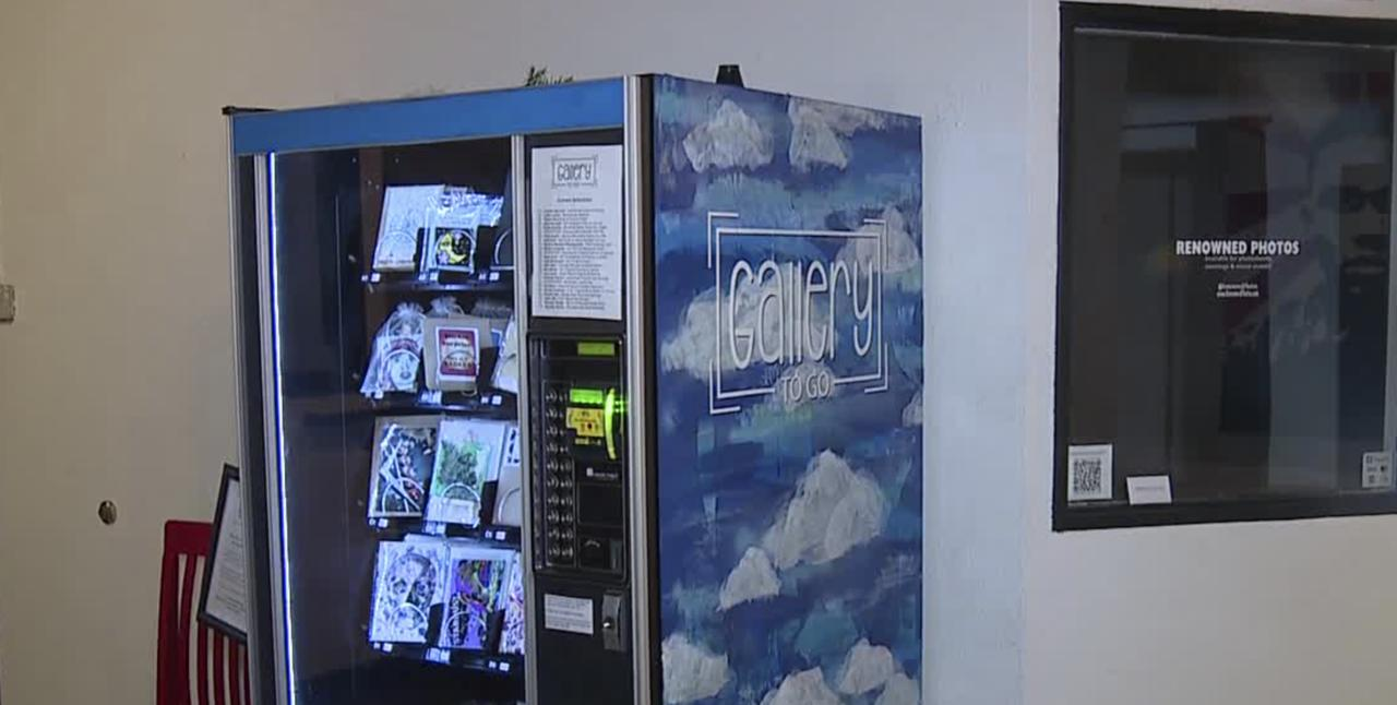 Art available in vending machine