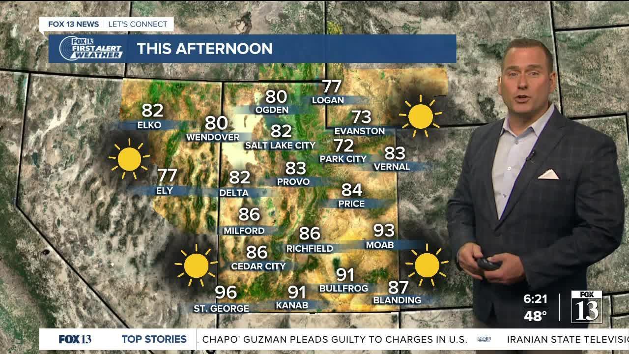 Friday morning weather forecast with Fox 13 meteorologist, Damon Yauney