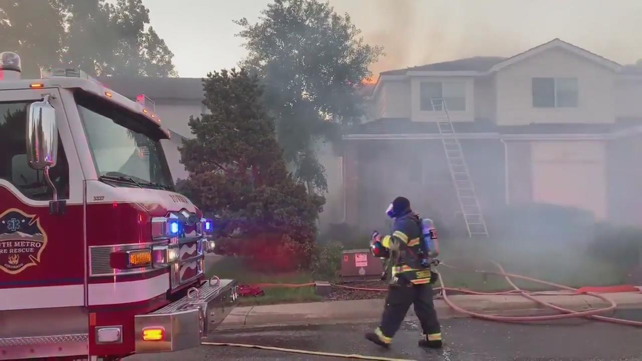 Two Homes In Lone Tree Catch Fire
