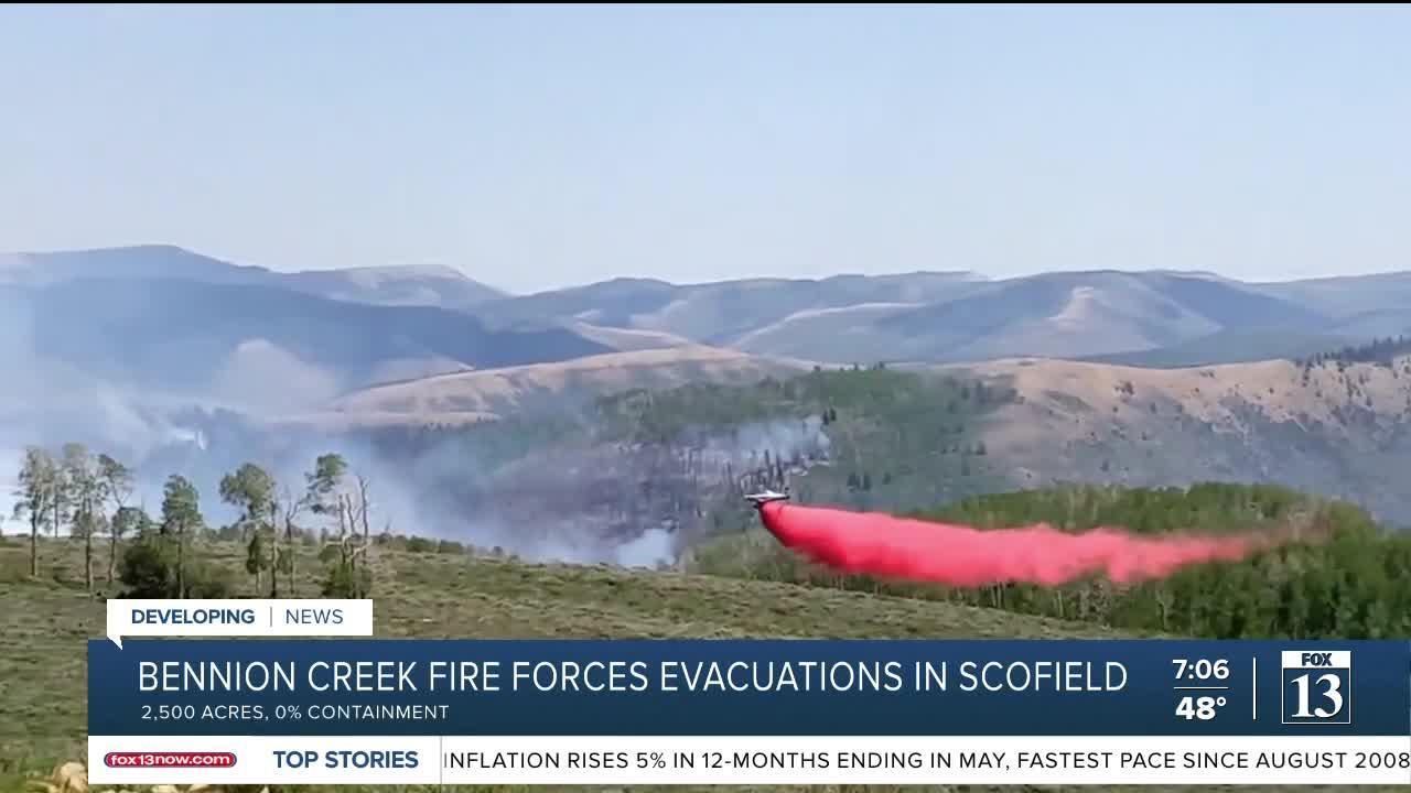 Mandatory evacuations due to the Bennion Creek Fire