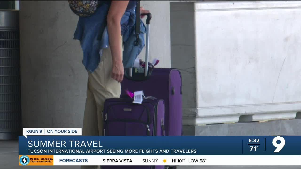 Tucson International Airport seeing more flights and travelers