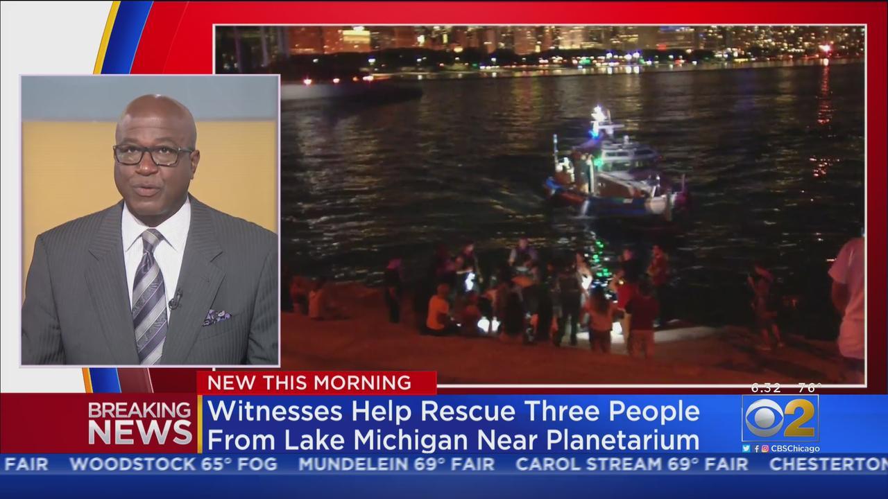 Witnesses Help Rescue Three People From Lake Michigan Near Adler Planetarium
