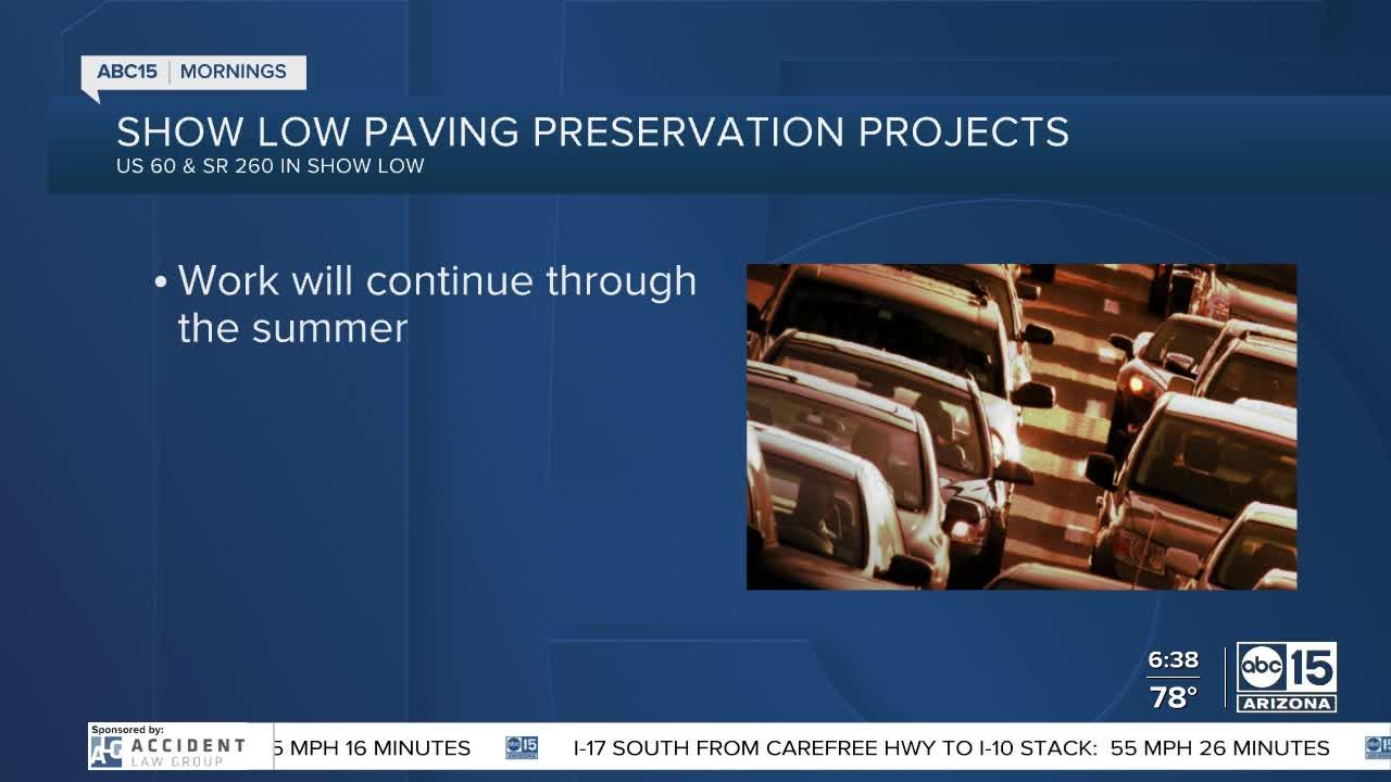 High country road work could cause delays