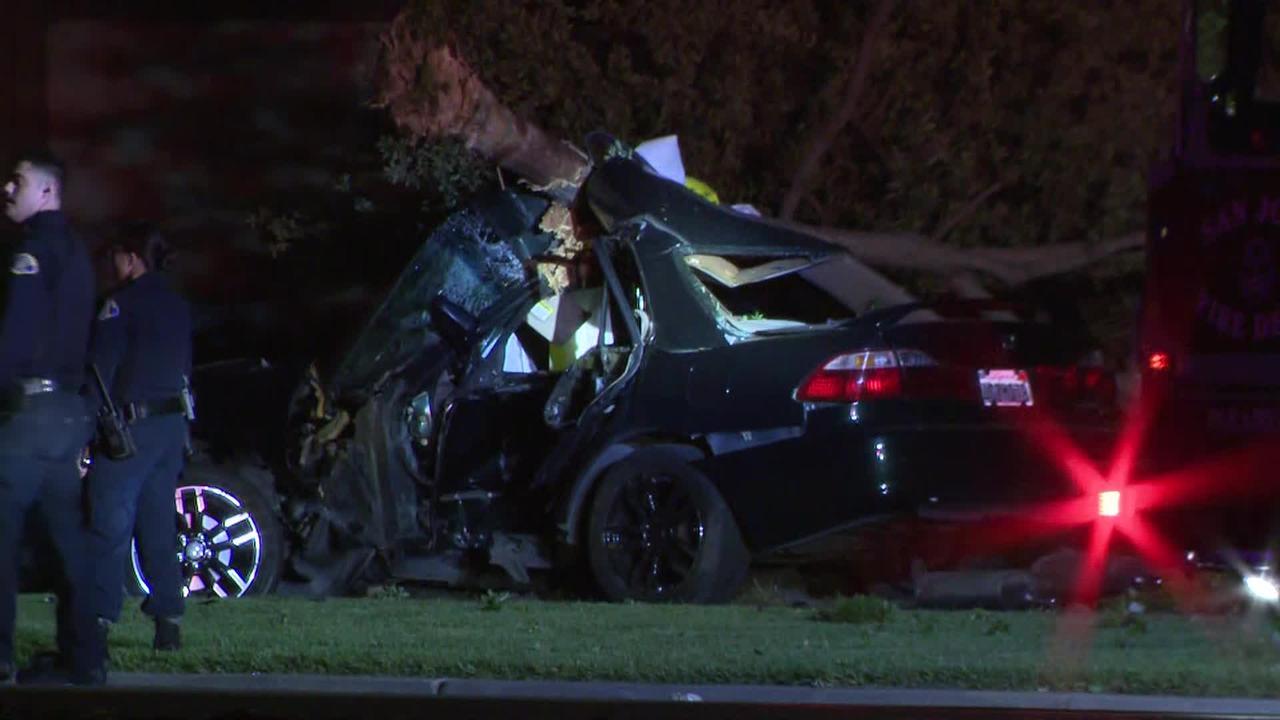 Raw Video: Scene of Fatal Crash in South San Jose