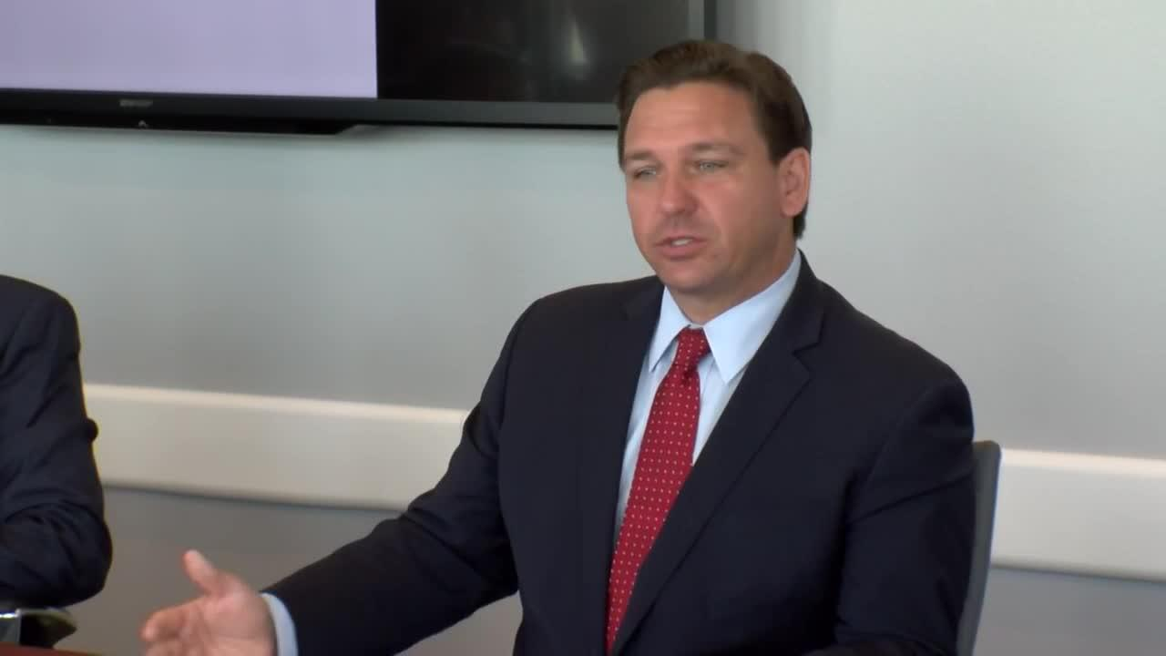 Florida Gov. Ron DeSantis holds news conference in Sarasota