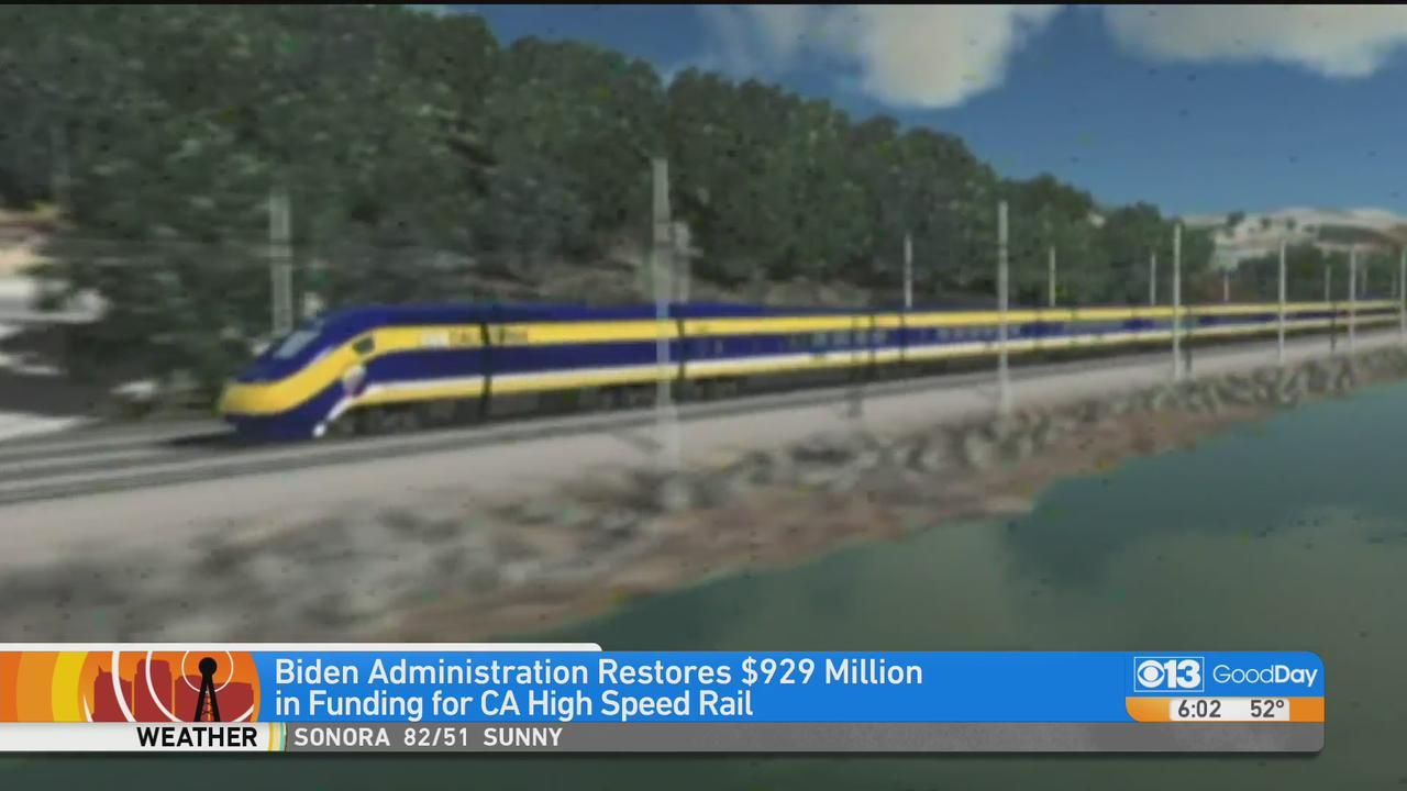 Biden Administration Restores $929M For CA High Speed Rail
