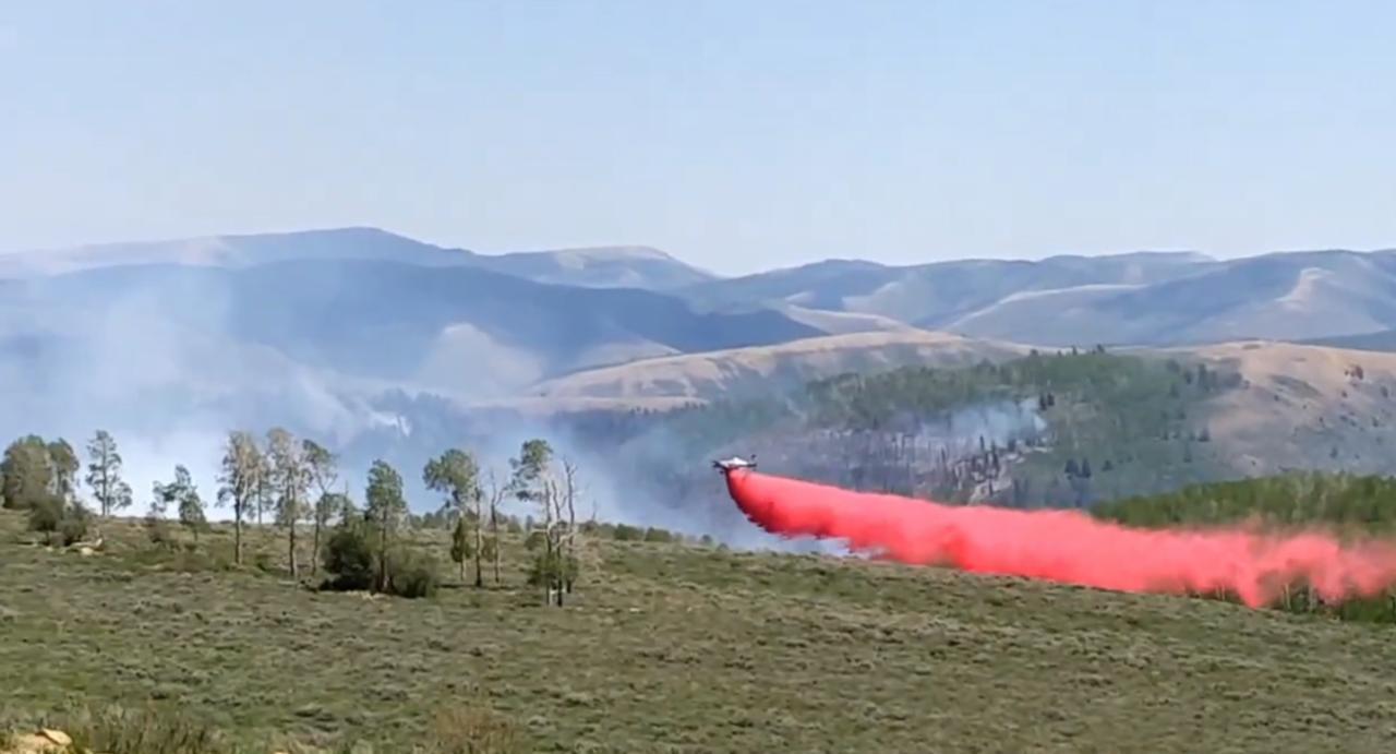 Bennion Creek Fire forces evacuation of Aspen Grove neighborhood high above Scofield Reservoir.jjjjjjj