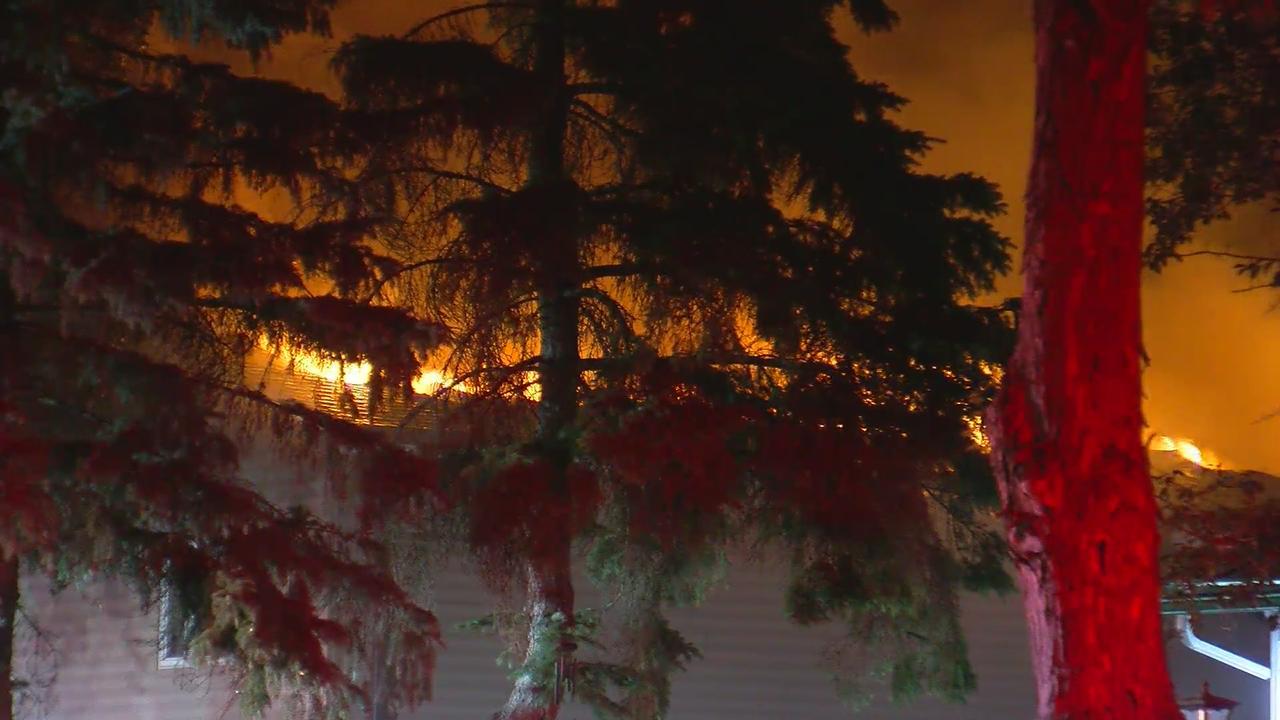 Fire Crews Battle House Fire In Maple Grove Overnight
