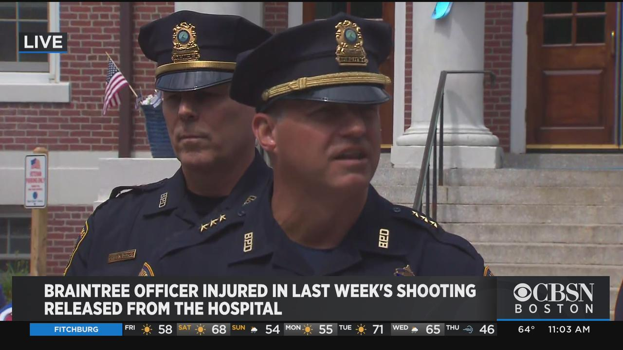 Braintree Police Provide Update On Last Week's Shooting After Officer Cushing Gets Released From Hospital