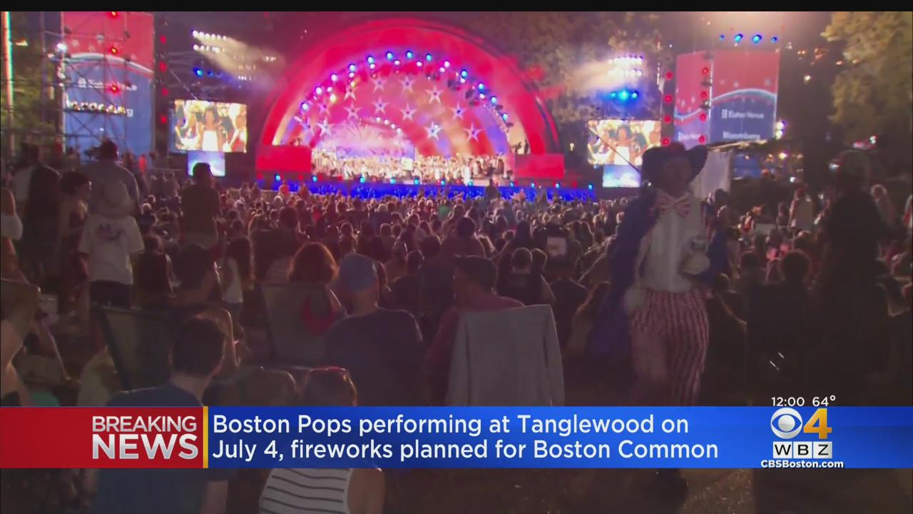 Boston Pops Performing At Tanglewood On July 4th; Fireworks Planned For Boston Common