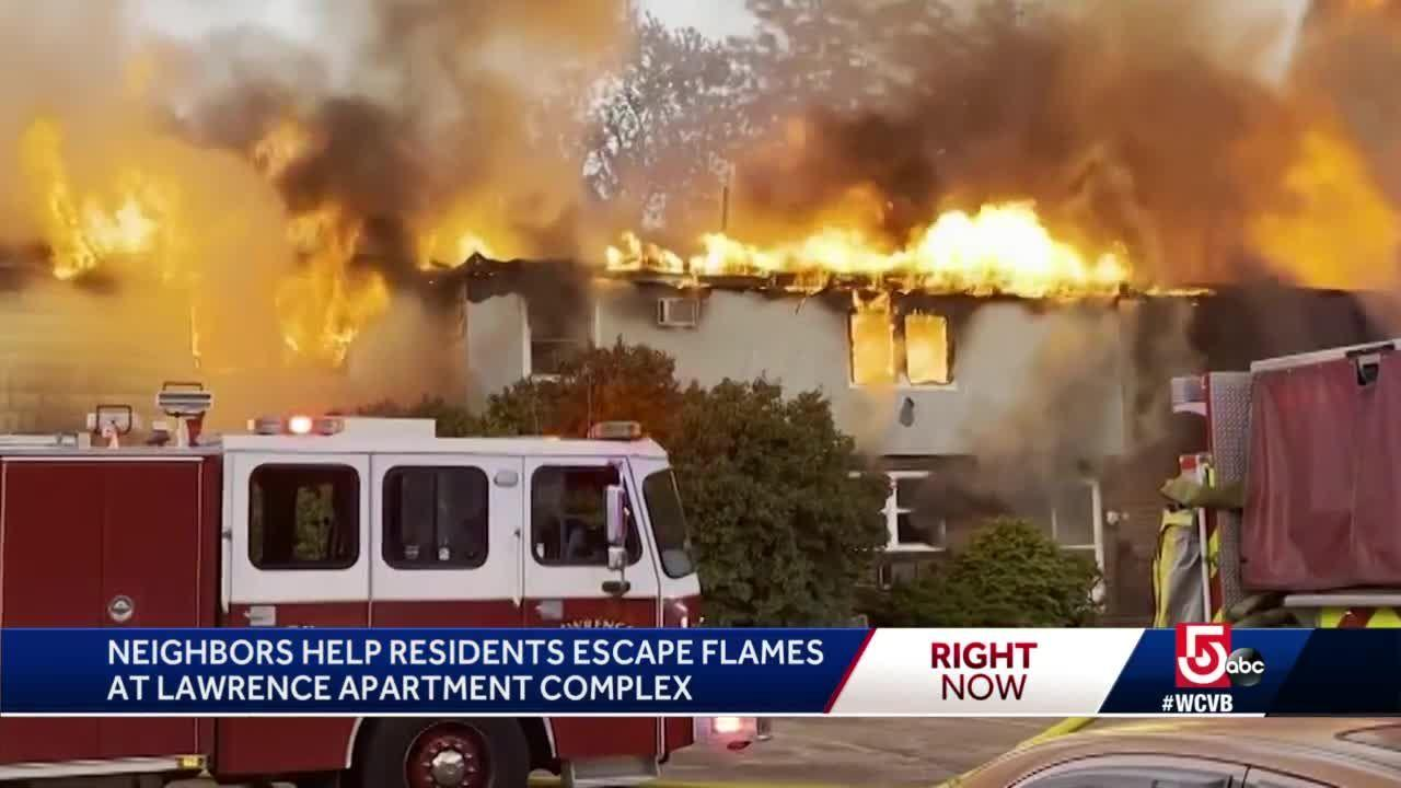 Neighbors help rescue residents from burning Lawrence building