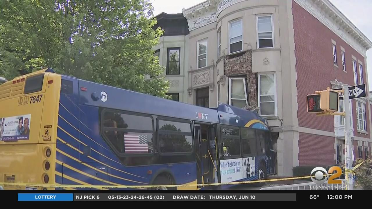 MTA Bus Removed From Building 4 Days After Crash