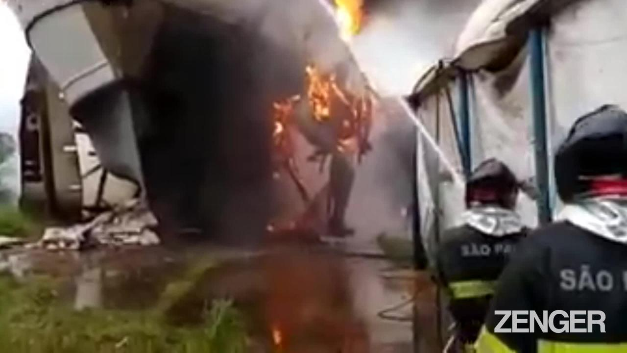 Fire In The Hold: Blaze Engulfs Ship In Dry Dock