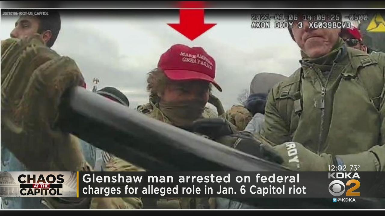 Glenshaw Man Arrested On Federal Charges For Alleged Role In Jan. 6 U.S. Capitol Riot