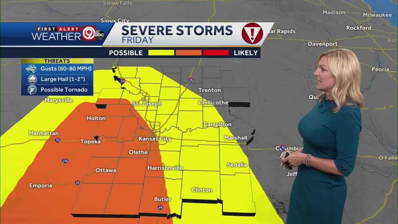 Thunderstorms with damaging hail marching toward Kansas City metro area