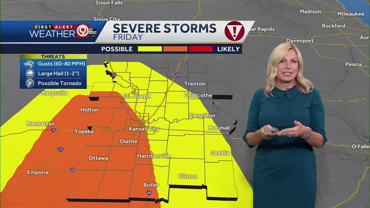 Entire Kansas City metro area under severe thunderstorm watch through 7 p.m. Friday