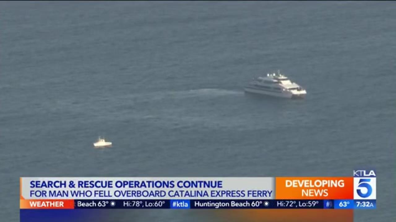 Search continues for California ferry passenger who went overboard; crew member says man jumped