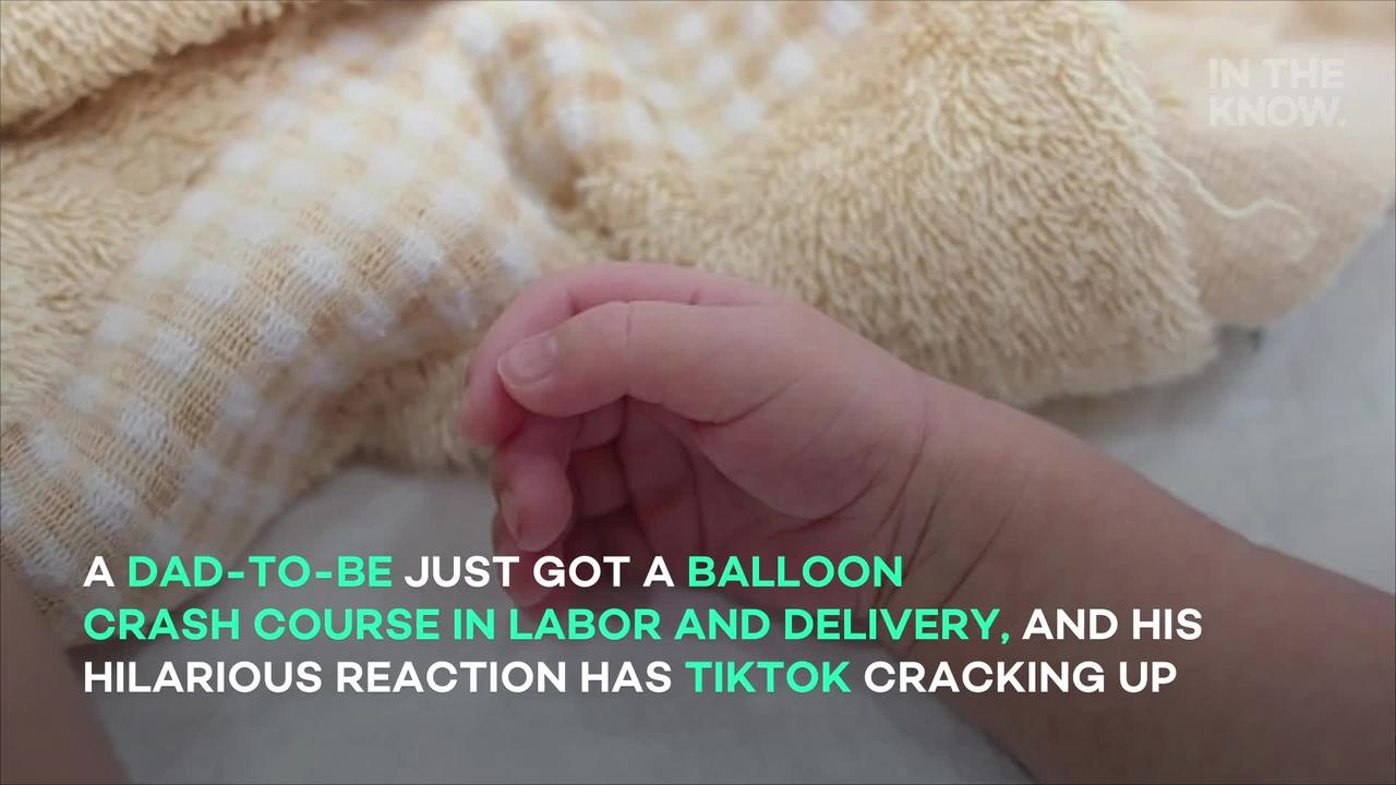 Dad-to-be is horrified by balloon lesson on labor and delivery