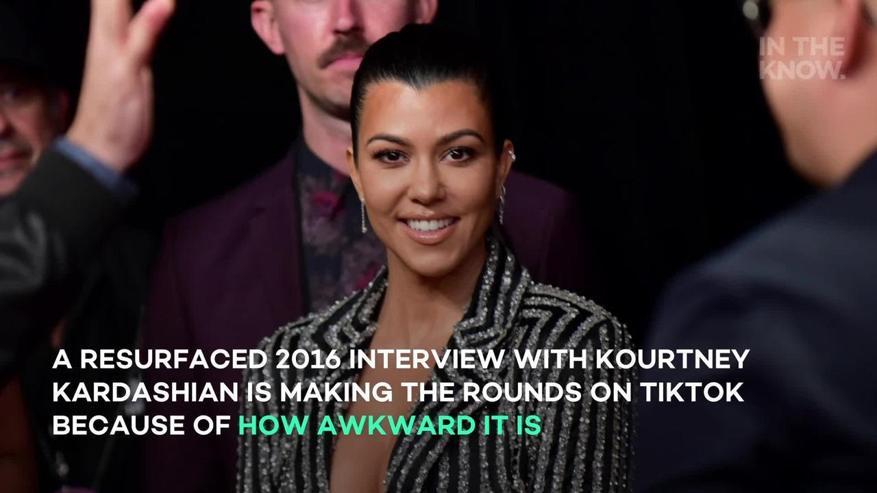 Resurfaced Kourtney Kardashian interview is so awkward