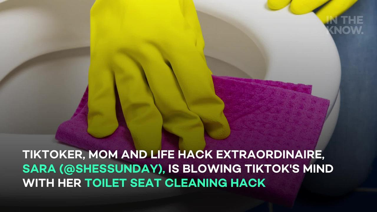 TikTok is stunned by this toilet seat deep-cleaning hack