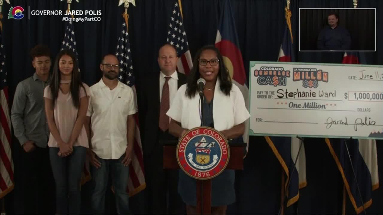 Stephanie Ward wins second million-dollar Colorado Comeback Cash drawing