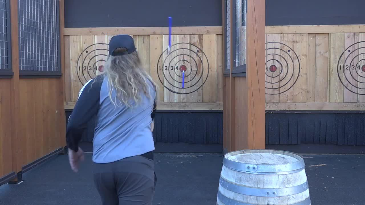 Tamarack Mountain offers several new adventures including ax throwing
