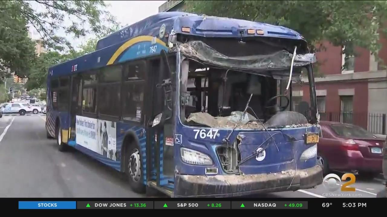 MTA Bus Removed From Brooklyn Building