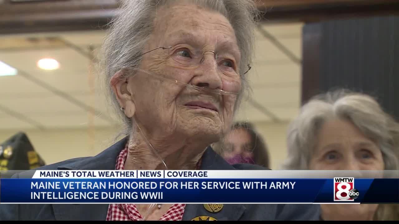 Maine World War II veteran, 97, recognized for her work decoding Japanese messages