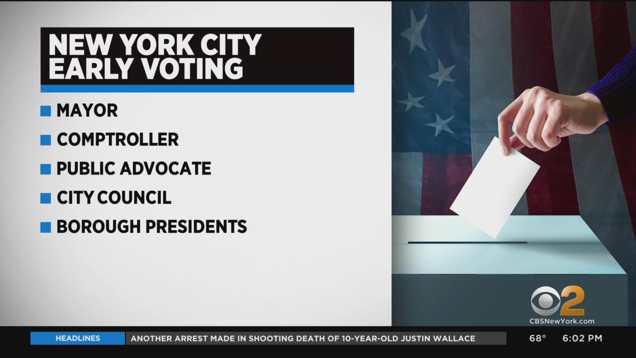 Early Voting Begins In NYC On Saturday