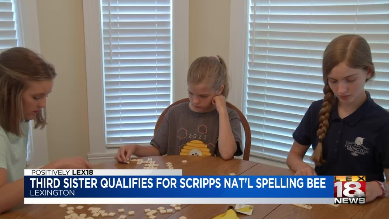 3rd Lexington sister qualifies for Scripps National Spelling Bee