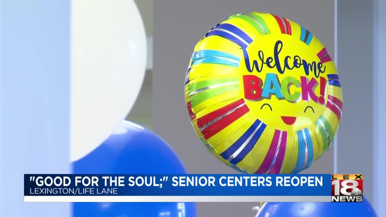 'A little slice of heaven': Seniors celebrate reopening of Lexington Senior Center