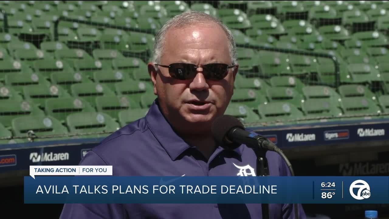 Tigers GM Avila talks plans for trade deadline