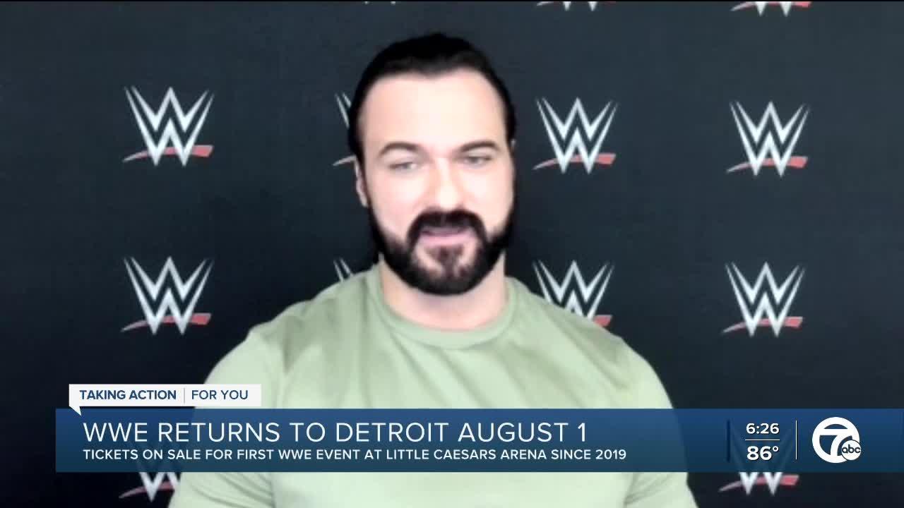 Drew McIntyre talks WWE's return to Detroit August 1