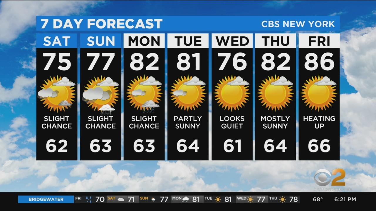 New York Weather: CBS2 6/11 Evening Forecast at 6PM