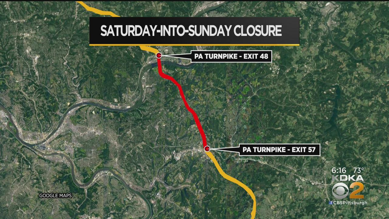 Roadway Between Allegheny Valley, Pittsburgh Interchanges On Pa. Turnpike To Close Overnight On Sunday For Construction
