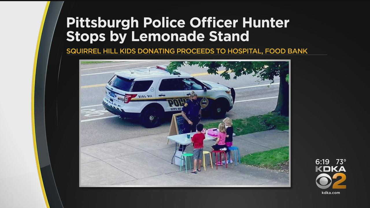 Pittsburgh Police Officer Stops By Kids' Lemonade Stand