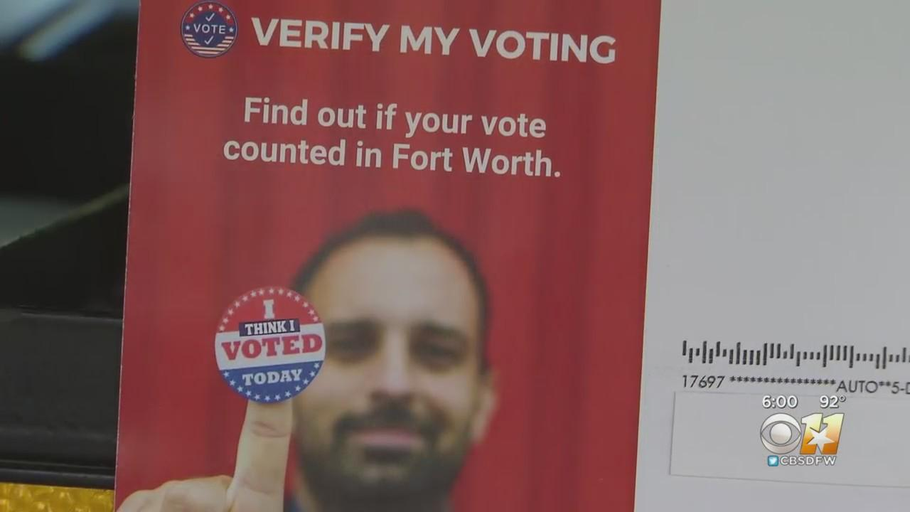 Fort Worth Residents Warned About Postcard Asking Them To Verify Votes