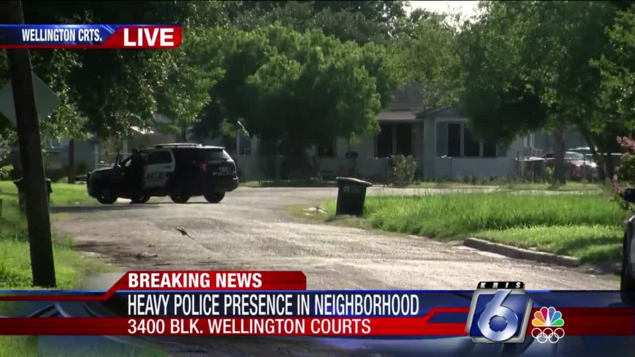 Heavy police presence on 3400 block of Wellington Courts