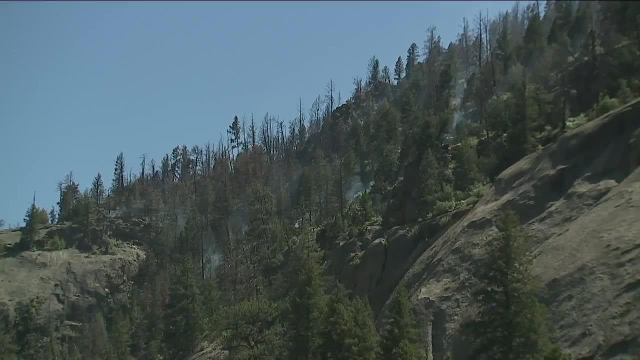 Firefighters continue work on Platte River Fire in steep, rocky terrain