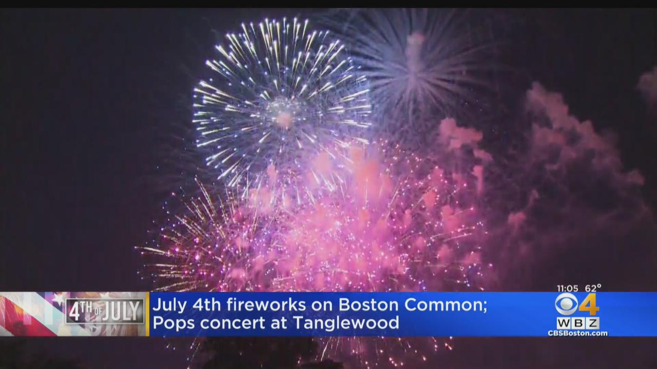 July 4th Fireworks On Boston Common; Pops Will Perform From Tanglewood