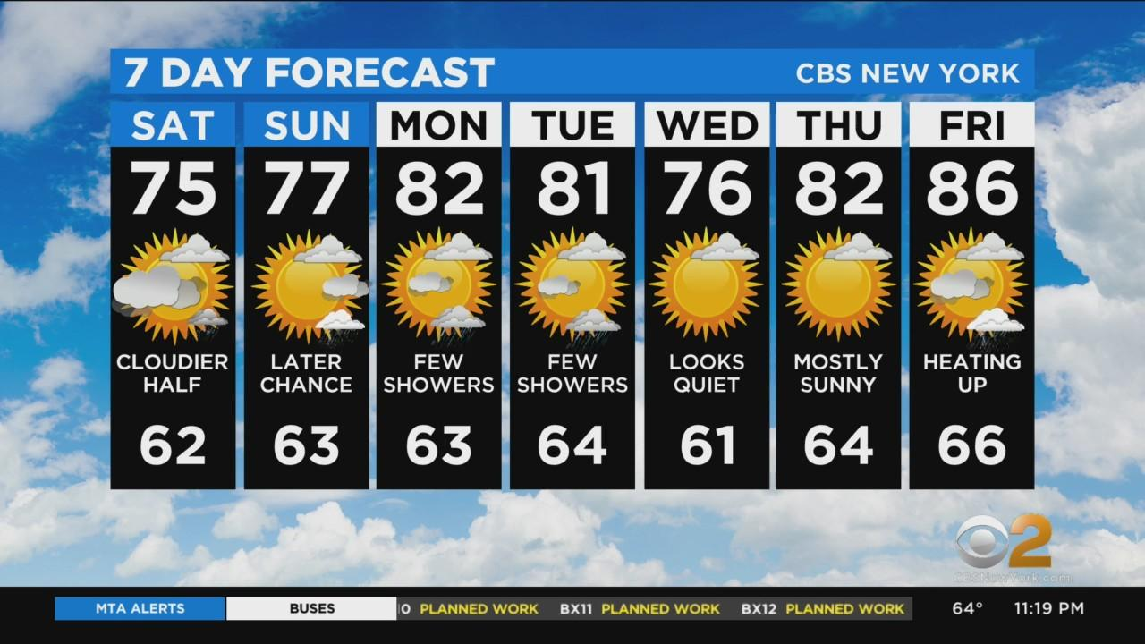 New York Weather: CBS2 6/11 Nightly Forecast at 11PM