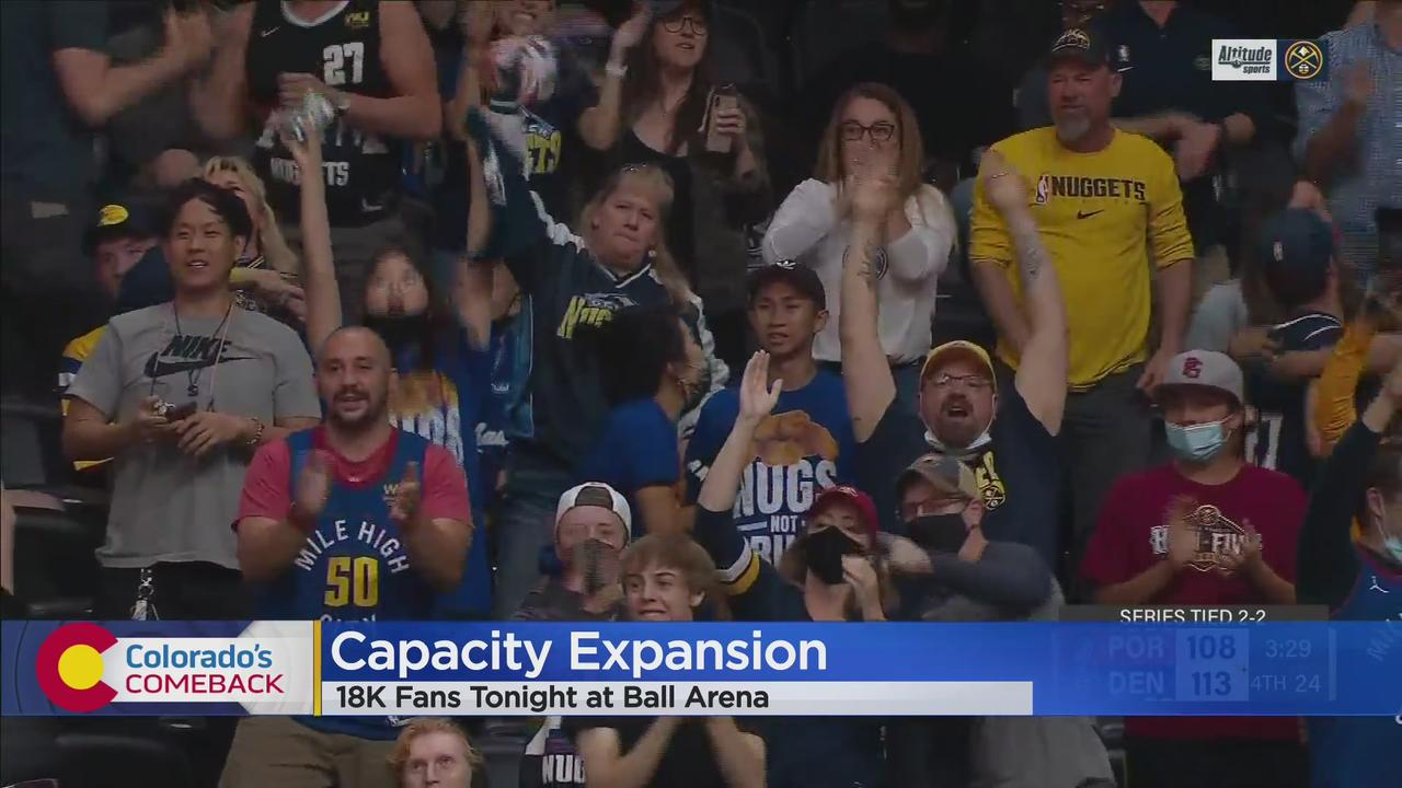 Ball Arena Nearly At Full Capacity For Fans