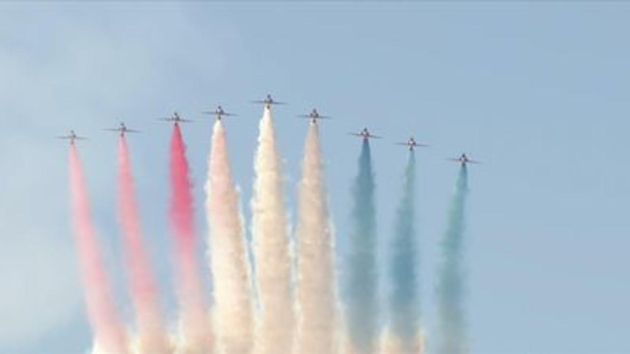 Red arrows fly over Cornwall for G7 summit