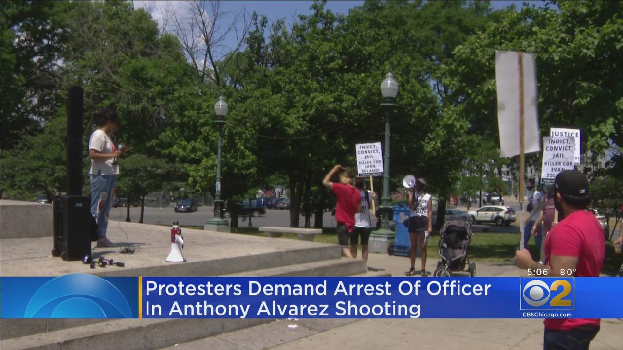 Protesters Demand Arrest Of Officer In Anthony Alvarez Shooting