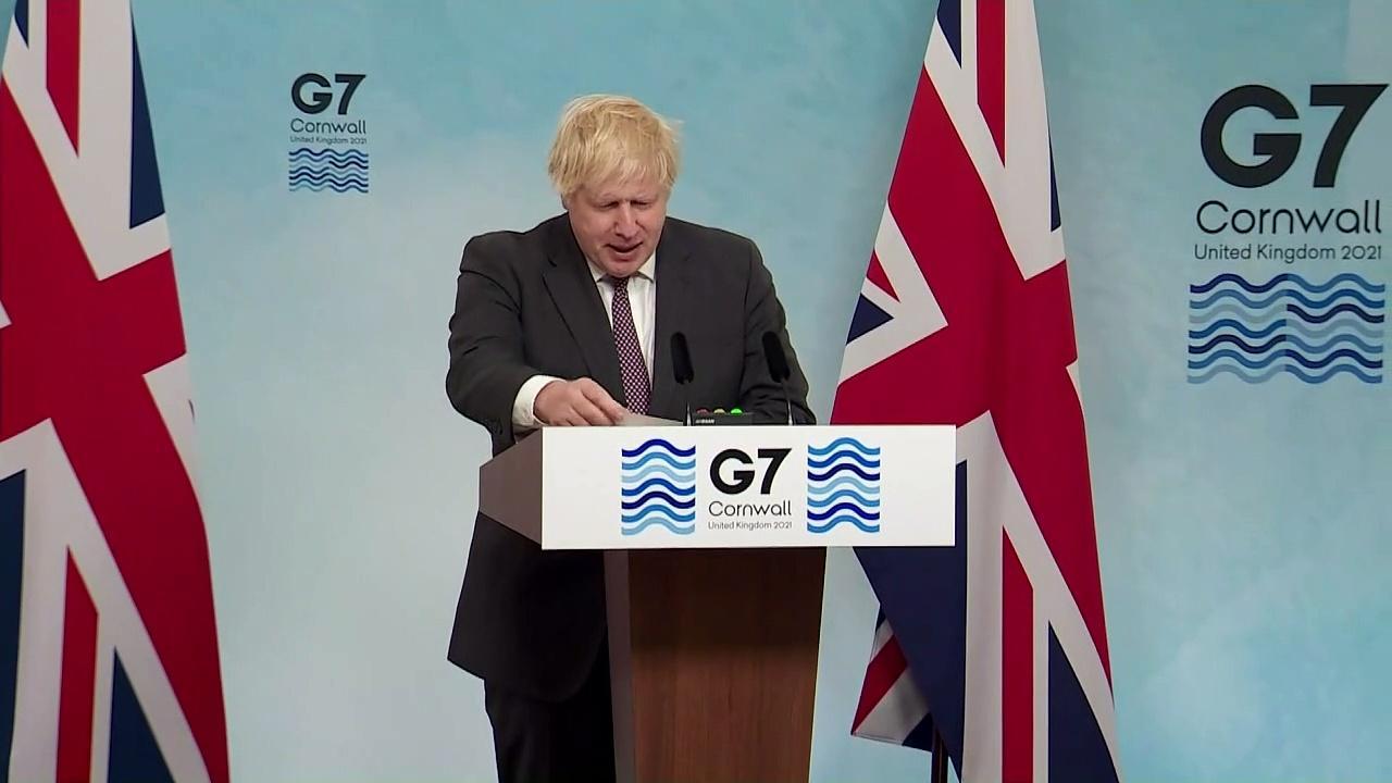 Boris Johnson pledges one billion vaccinations