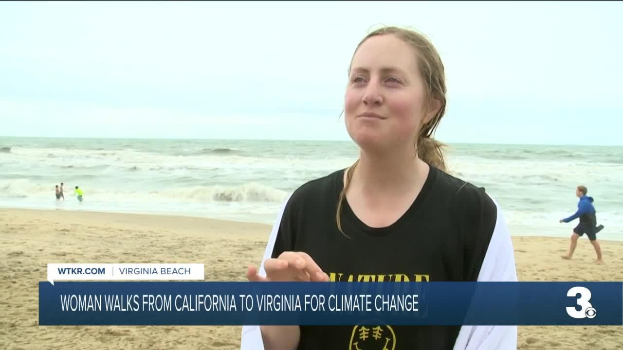 Woman walks from Cali to Virginia for climate change